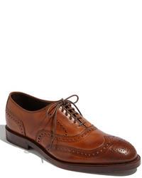 Chaussures brogues en cuir brunes