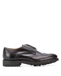 Chaussures brogues en cuir épaisses marron foncé Doucal's