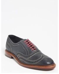 Chaussures brogues en cuir gris foncé