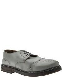 Chaussures brogues en cuir grises