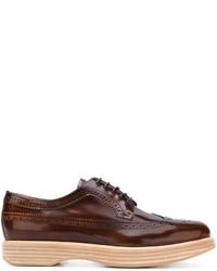 Chaussures brogues en cuir marron foncé