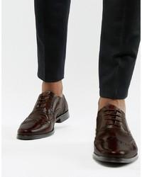 Chaussures brogues en cuir marron foncé ASOS DESIGN