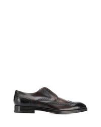 Chaussures brogues en cuir marron foncé BOSS HUGO BOSS