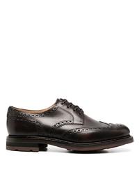 Chaussures brogues en cuir marron foncé Church's