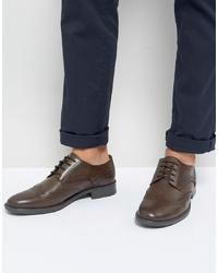 Chaussures brogues en cuir marron foncé Frank Wright