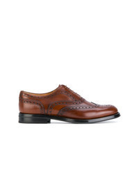 Chaussures brogues en cuir marron