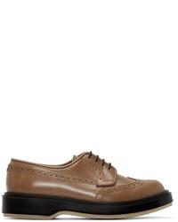 Chaussures brogues en cuir marron ADIEU