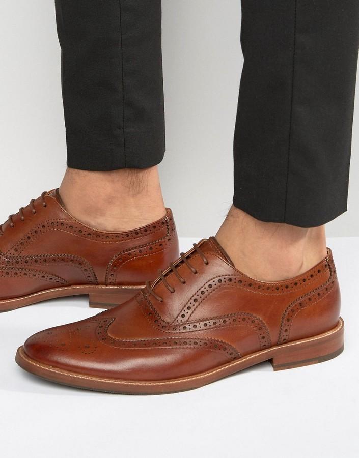 Chaussures brogues en cuir marron Aldo