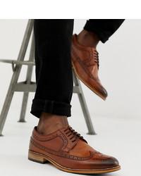Chaussures brogues en cuir marron ASOS DESIGN
