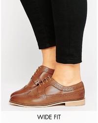 Chaussures brogues en cuir marron Asos