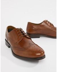 Chaussures brogues en cuir marron Burton Menswear