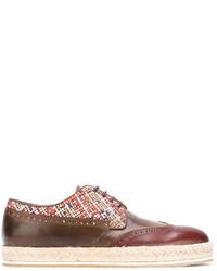 Chaussures brogues en cuir marron Etro
