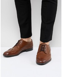 Chaussures brogues en cuir marron H By Hudson