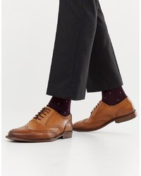 Chaussures brogues en cuir marron Office