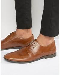 Chaussures brogues en cuir marron Red Tape
