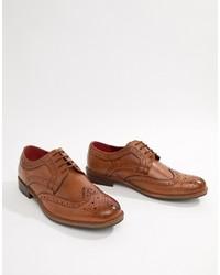 Chaussures brogues en cuir marron Silver Street
