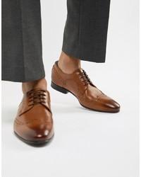 Chaussures brogues en cuir marron Ted Baker