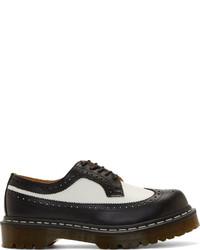 Chaussures brogues en cuir noires et blanches