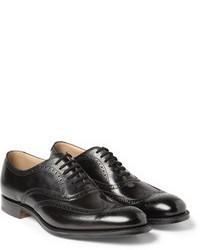 Chaussures brogues en cuir noires