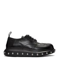 Chaussures brogues en cuir noires Alexander McQueen