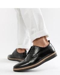 Chaussures brogues en cuir noires ASOS DESIGN