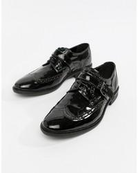 Chaussures brogues en cuir noires ASOS Edition