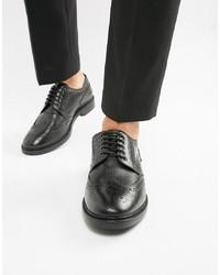 Chaussures brogues en cuir noires Base London