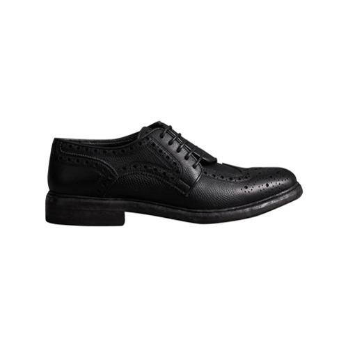 Chaussures brogues en cuir noires Burberry