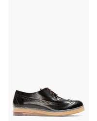Chaussures brogues en cuir noires Diesel