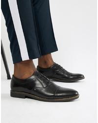 Chaussures brogues en cuir noires Dune