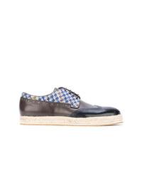 Chaussures brogues en cuir noires Etro