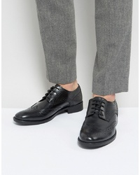 Chaussures brogues en cuir noires Frank Wright