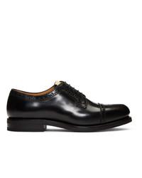 Chaussures brogues en cuir noires Gucci