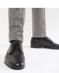 Chaussures brogues en cuir noires H By Hudson