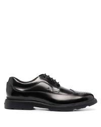 Chaussures brogues en cuir noires Hogan