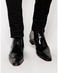 Chaussures brogues en cuir noires Jeffery West