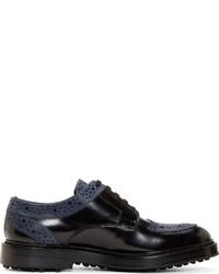 Chaussures brogues en cuir noires Kris Van Assche