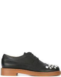 Chaussures brogues en cuir noires MM6 MAISON MARGIELA