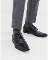 Chaussures brogues en cuir noires MOSS BROS