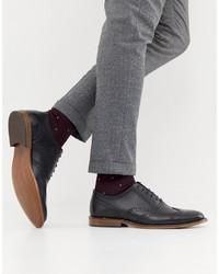 Chaussures brogues en cuir noires Office