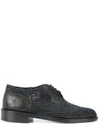 Chaussures brogues en cuir noires Robert Clergerie
