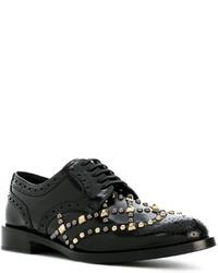 Chaussures brogues en cuir noires Dolce & Gabbana