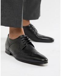 Chaussures brogues en cuir noires Ted Baker