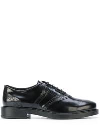 Chaussures brogues en cuir noires Tod's