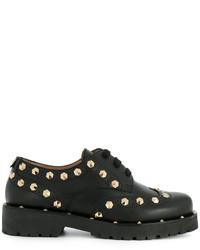 Chaussures brogues en cuir noires Twin-Set