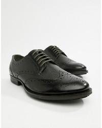 Chaussures brogues en cuir noires WALK LONDON
