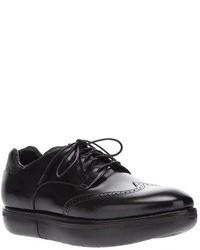 Chaussures brogues en cuir noires Y-3