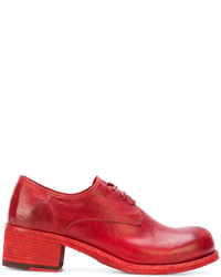 Chaussures brogues en cuir rouges Officine Creative