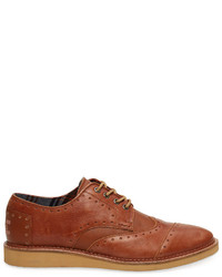 Chaussures brogues en cuir tabac