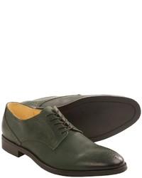 Chaussures brogues en cuir vert foncé
